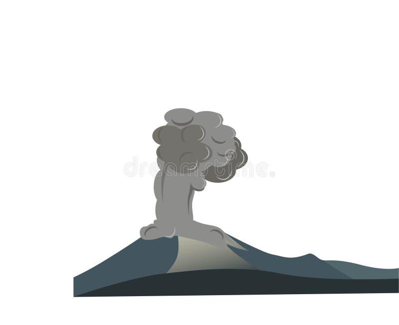 Erupting volcano vector format illustration stock photos