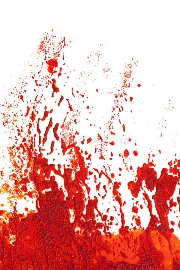 Eruption or explosion in orange red paint. Expression of eruption or explosion in orange and red paint. isolated on white vector illustration