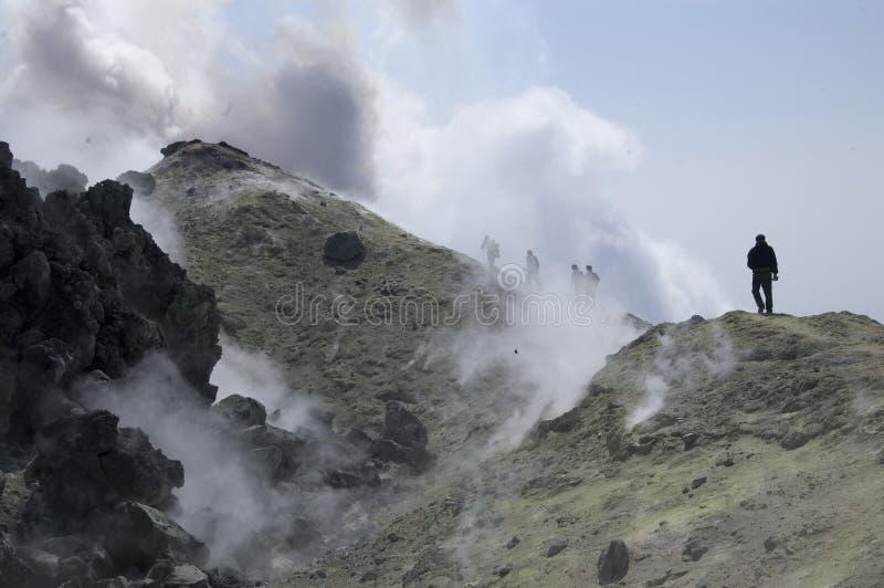 Eruption, Kamchatka stock image