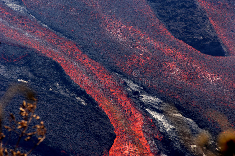 Eruption on Reunion island 10 royalty free stock images