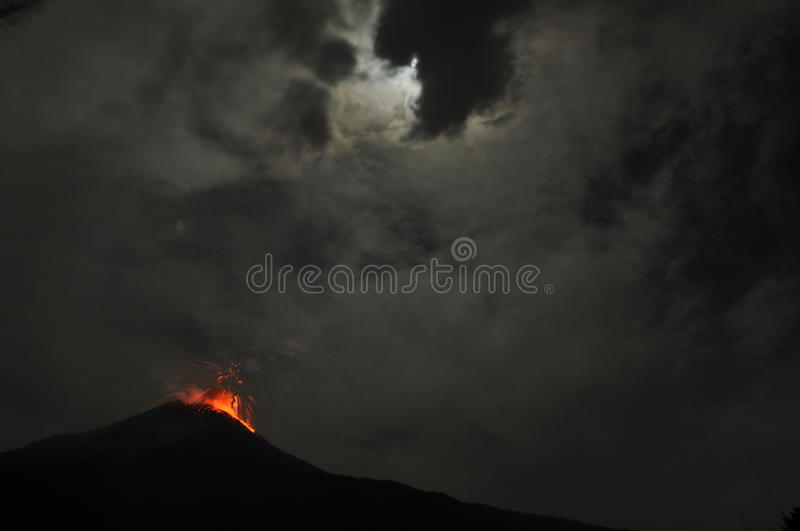 Eruption of a volcano royalty free stock photography