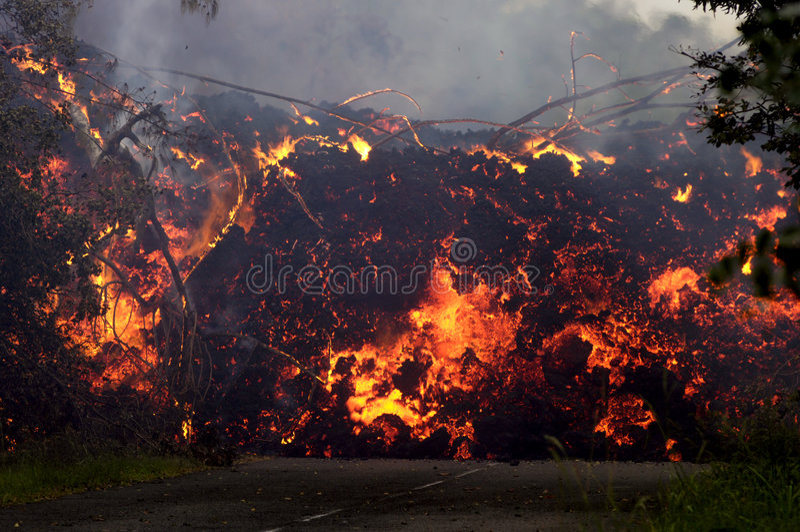 Eruzione su Reunion Island 4 fotografia stock libera da diritti
