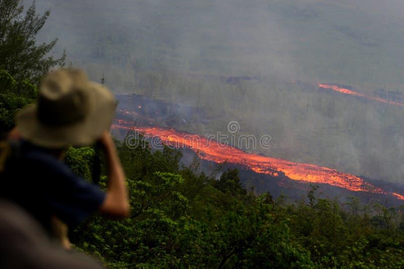 Eruzione su Reunion Island 5 fotografie stock libere da diritti