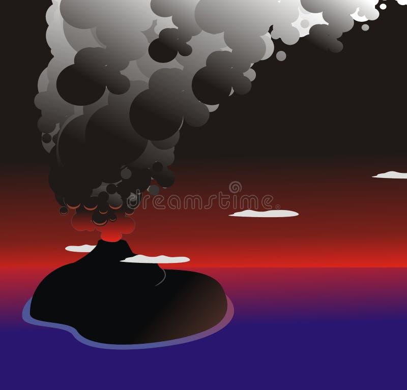 Eruzione vulcanica. royalty illustrazione gratis