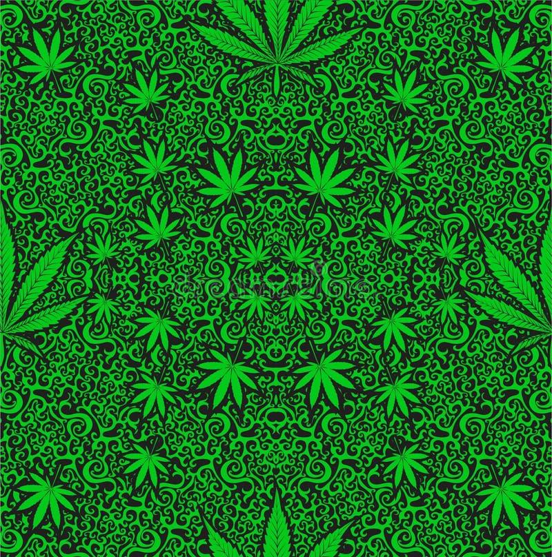 Erva daninha do cannabis ilustração do vetor