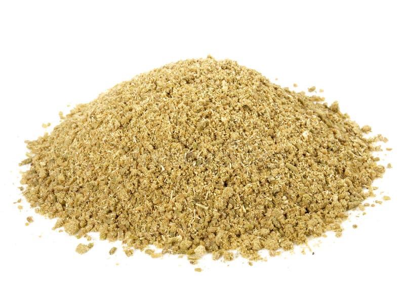 A erva-doce moída semeia - a nutrição saudável foto de stock