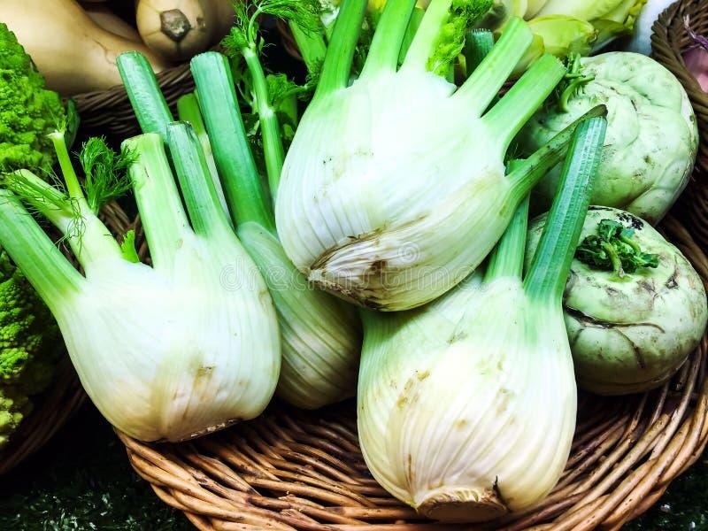 Erva-doce orgânica fresca no mercado fotos de stock royalty free