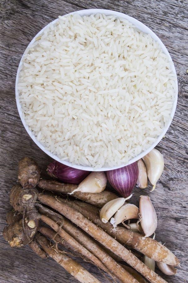 Ervas do arroz de Tailândia fotos de stock