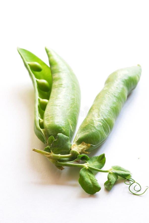 Ervilhas frescas verdes fotos de stock royalty free