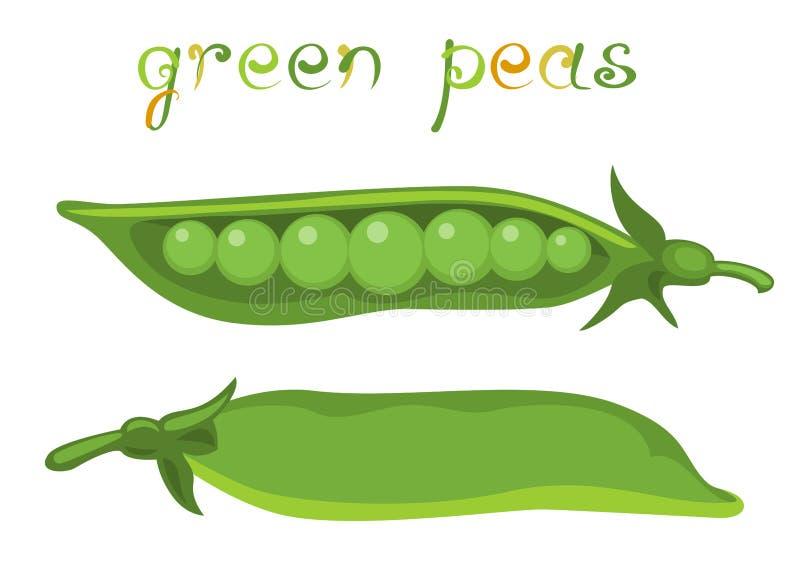 Ervilhas verdes ilustração royalty free