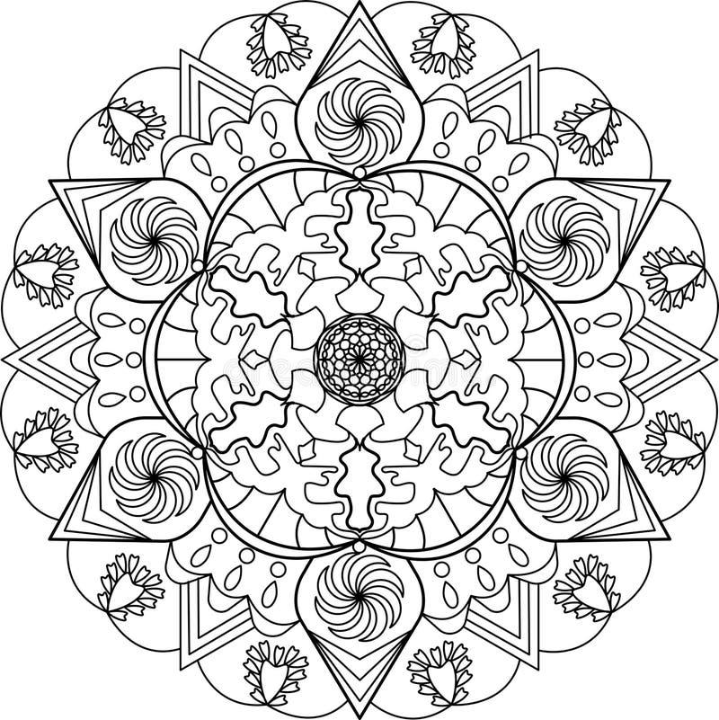 Erwachsene Farbtonseite, Mandala Vektor Abbildung - Illustration von ...