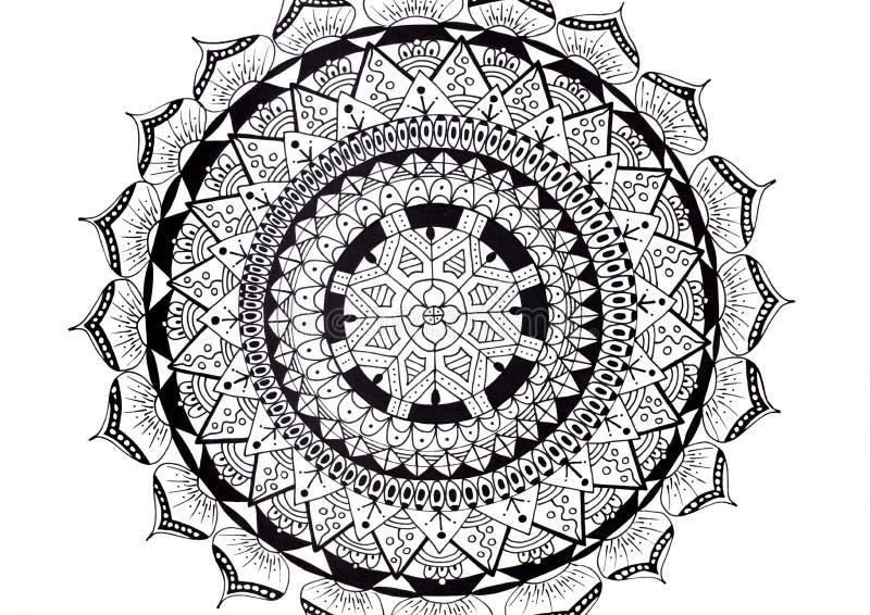 Erwachsene Malbuchhandgezeichnete Illustration vektor abbildung
