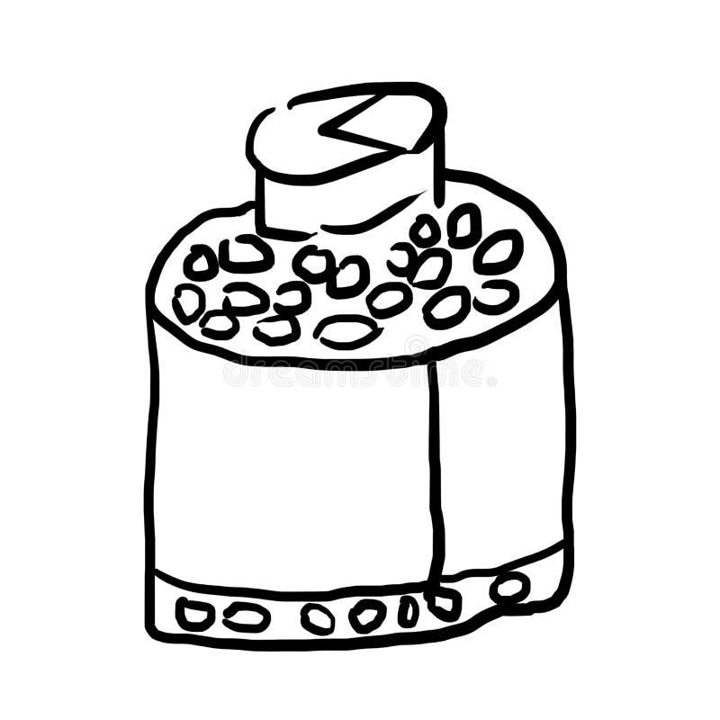 Erwachsene ` s Gekritzel-Reihe: Medizin-Pille ` s Flasche vektor abbildung