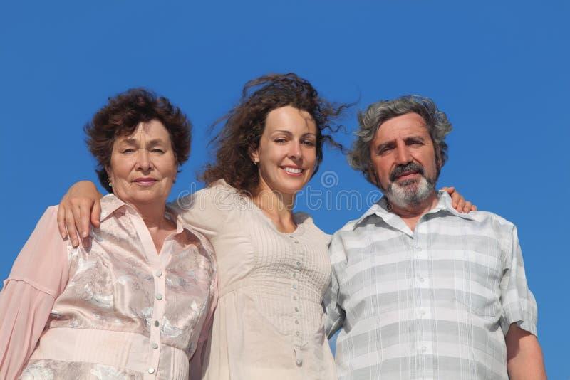 Erwachsene Tochter und ihre Muttergesellschaftumfassung lizenzfreies stockfoto