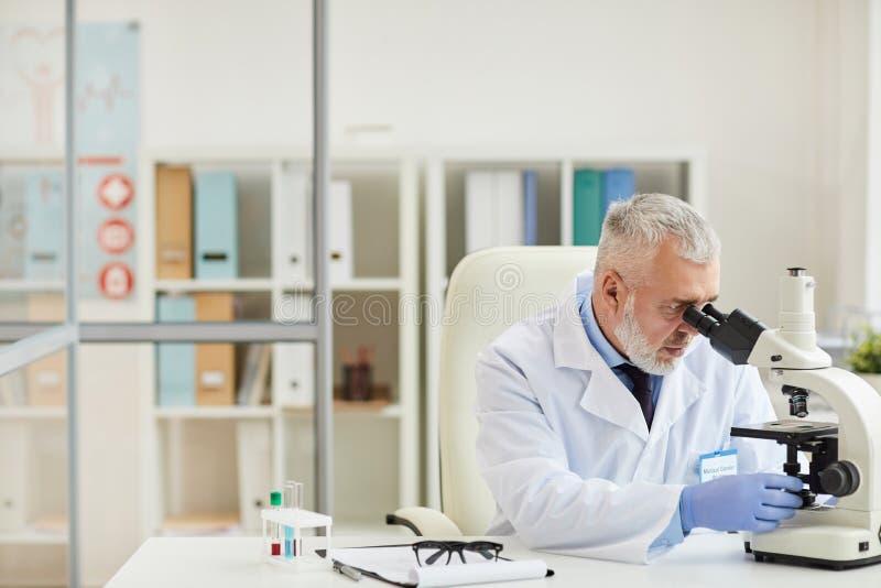 Erwachsener Chemiker im Labor stockfotos