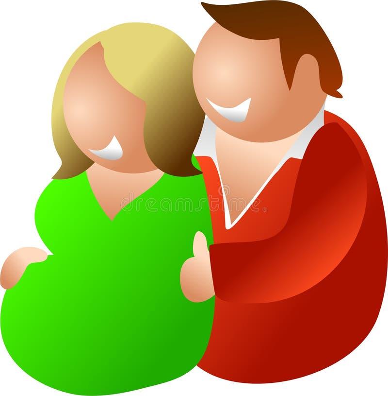Erwartung der Paare lizenzfreie abbildung
