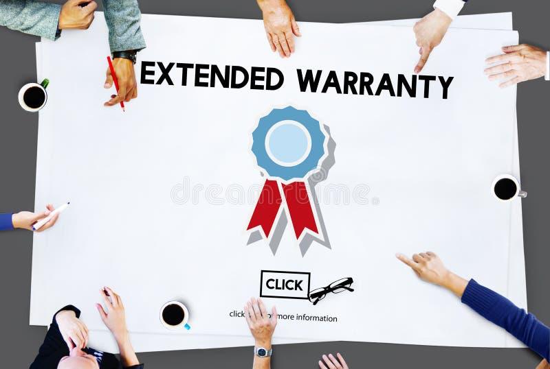 Erweiterte Garantie garantiertes Qualitäts-Sicherheits-Servicekonzept lizenzfreie stockfotografie
