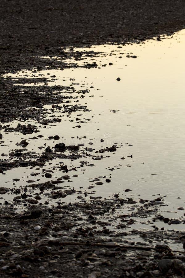 Erweiterte Ränder einer Lagune bei Milford zeigen, Connecticut stockbilder