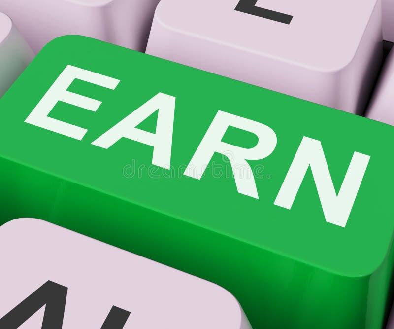 Erwerben Sie die Schlüsselshows, die Arbeit on-line erwerben oder erhalten stockfotos
