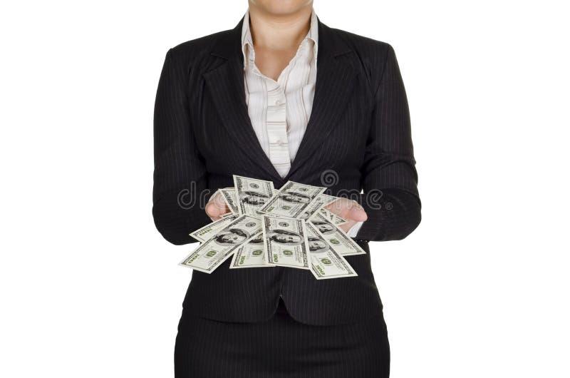 Erwerben vielen Geldes stockfoto