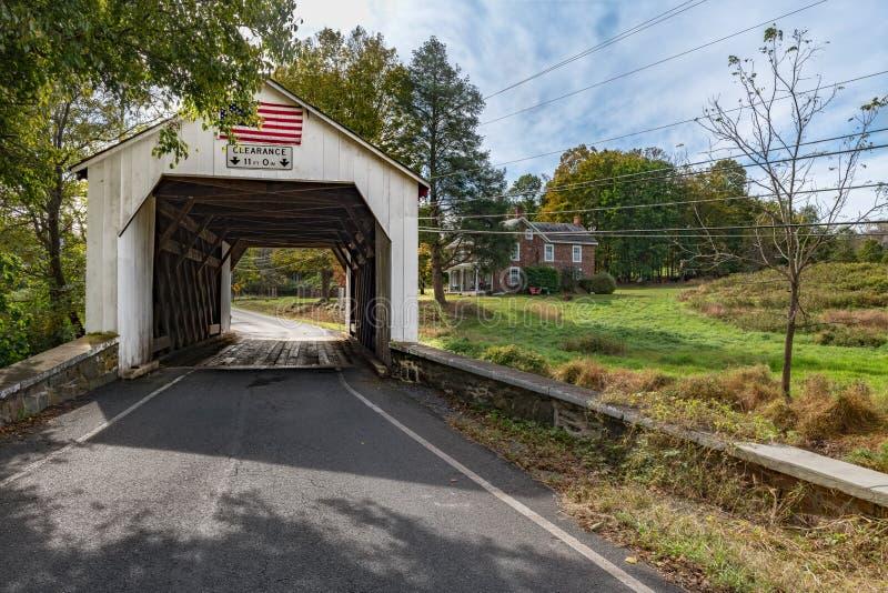 The Erwinna Covered Bridge stock photos