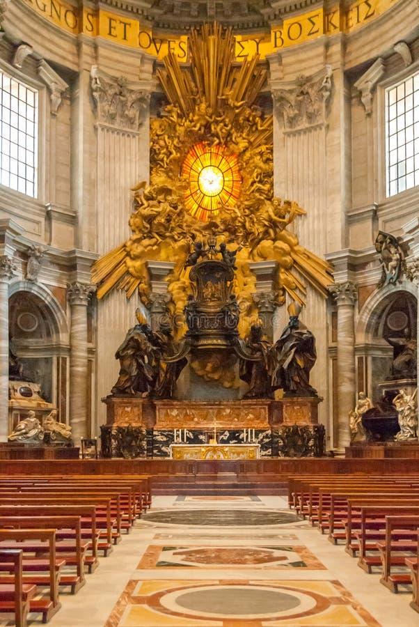 1653 ery apsydy ołtarz St Peter's bazylika II obraz stock