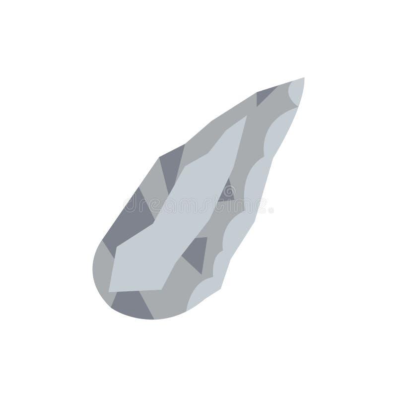 Ery kamienia łupanego praformy Neandertalskiego narzędzia wektorowa płaska ikona royalty ilustracja