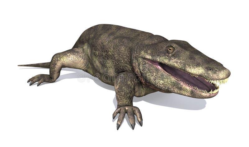 Eryops - Prehistoric Amphibian. The Eryops was a prehistoric amphibian that lived during the early Permian Period royalty free illustration