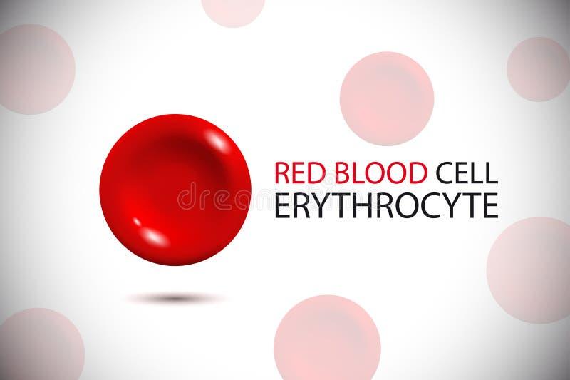 erytrociet Rode bloedcelembleem stock illustratie