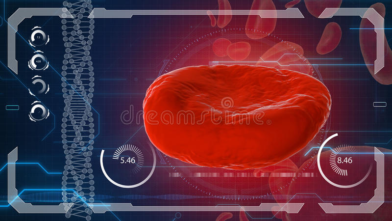Erytrocyt, czerwone komórki krwi, anatomii medyczny pojęcie royalty ilustracja