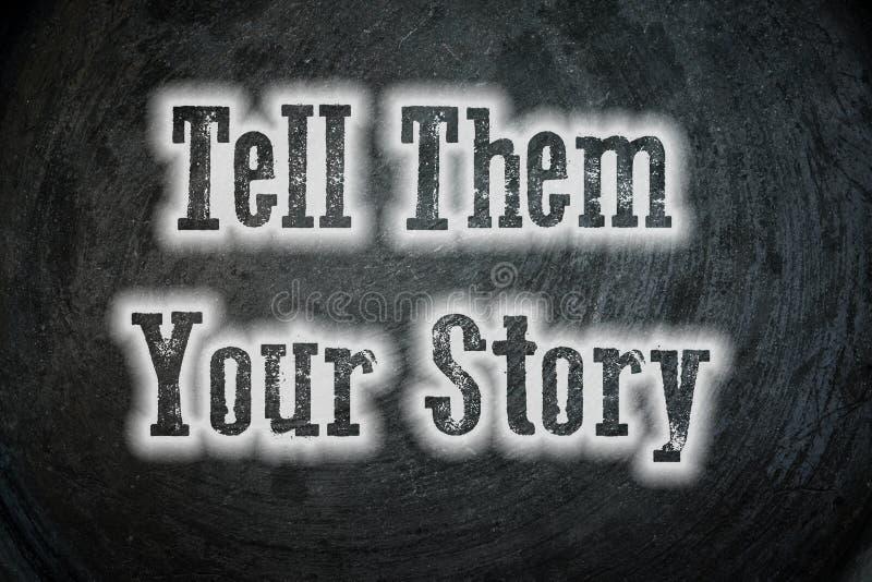 Erzählen Sie ihnen Ihre Geschichte lizenzfreie stockfotografie