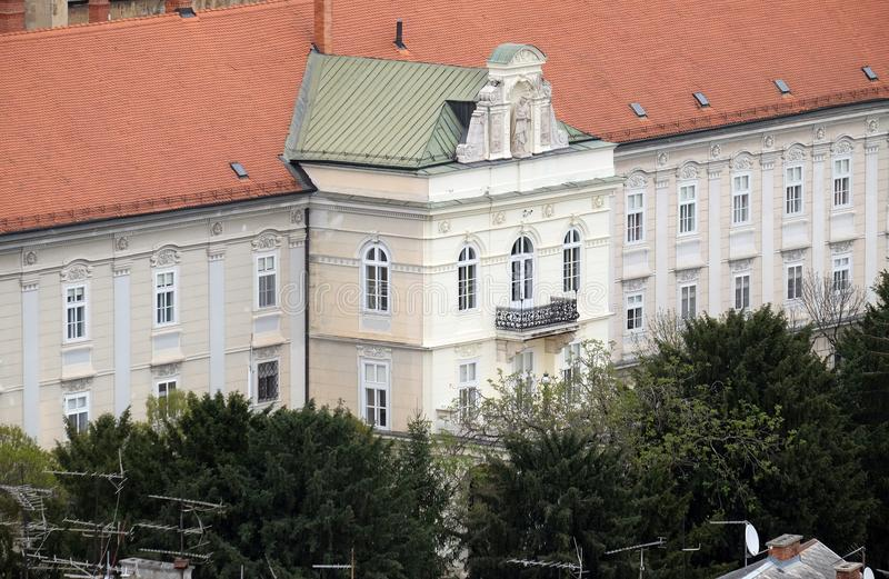 Erzbischof ` s Palast in Zagreb stockbilder
