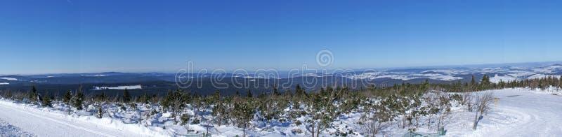 Erzgebirges vinterpanorama royaltyfri fotografi