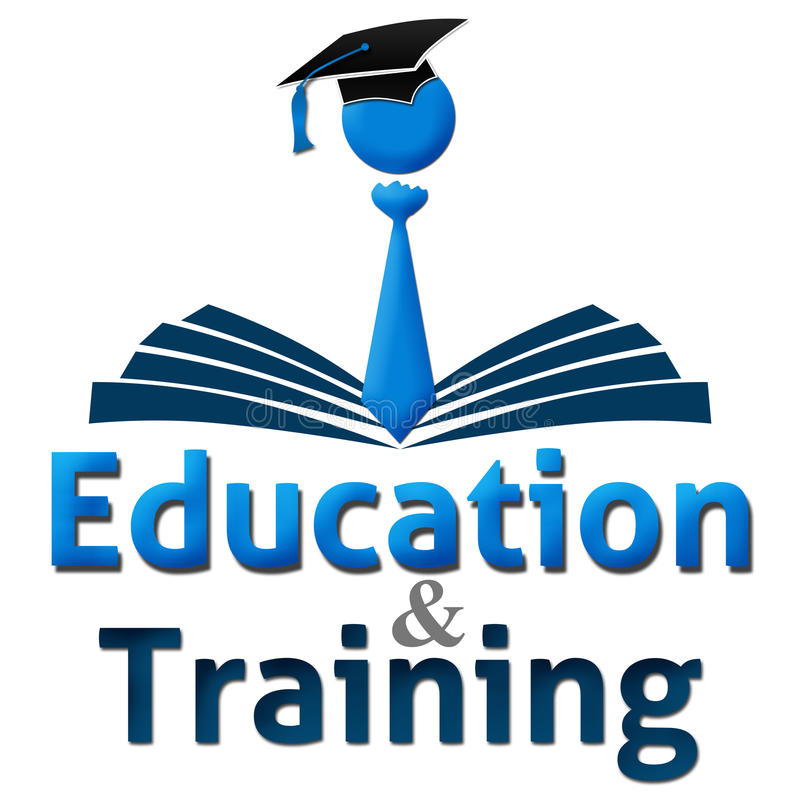 Erziehung und Ausbildungs-menschliches Kappen-Buch vektor abbildung