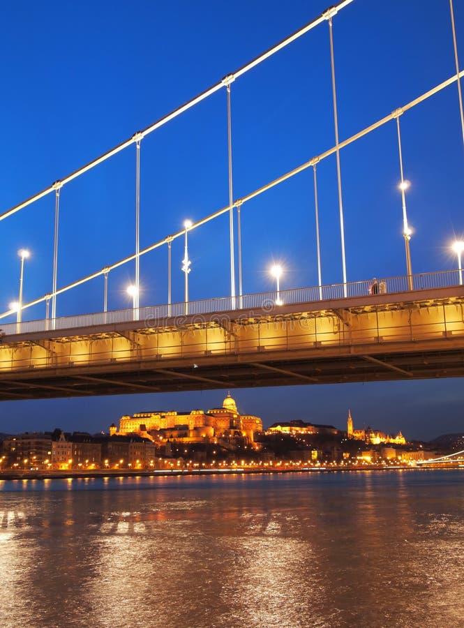 Erzsebet Bridge royalty free stock images