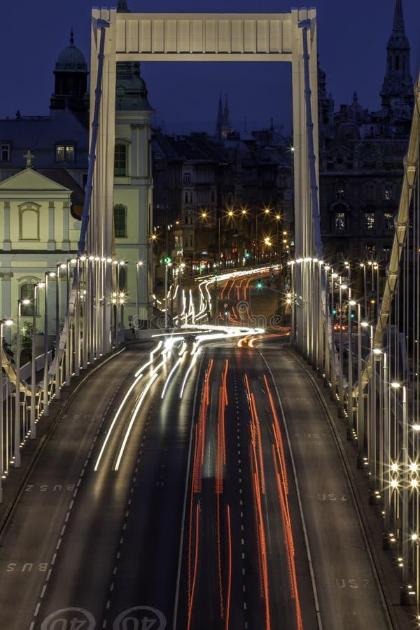 Erzsebet Bridge photos libres de droits