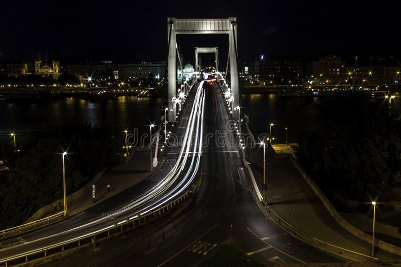 Erzsebet Bridge images libres de droits