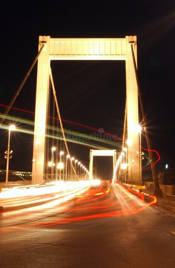 Erzsebet Bridge stock images