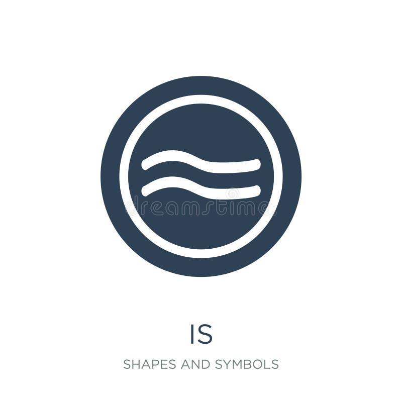 es aproximadamente igual al icono en estilo de moda del diseño es aproximadamente igual al icono aislado en el fondo blanco Es ilustración del vector