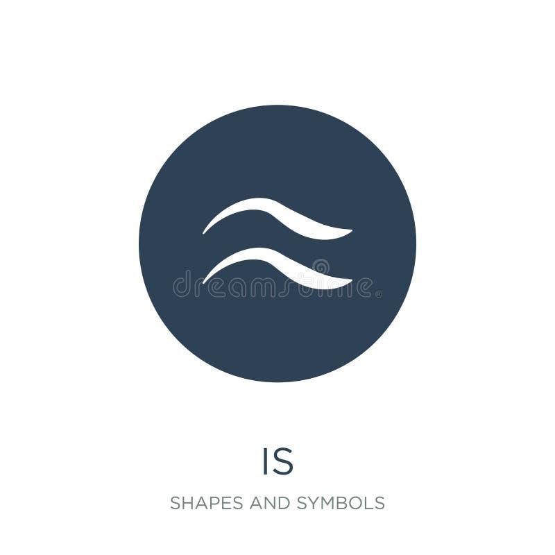 es aproximadamente igual al icono en estilo de moda del diseño es aproximadamente igual al icono aislado en el fondo blanco Es stock de ilustración