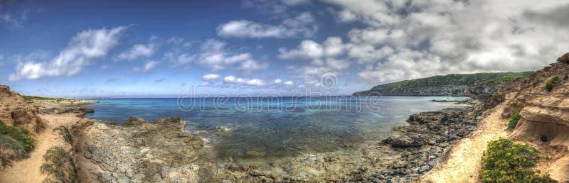 Es Caló Beach in Formentera Balearic islands. stock photos