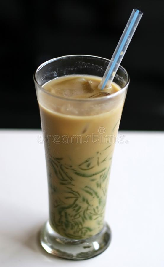 Es Cendol. Java traditional drink. Cendol is an iced sweet popular dessert that contains droplets of worm-like green rice flour jelly, coconut milk and palm royalty free stock image