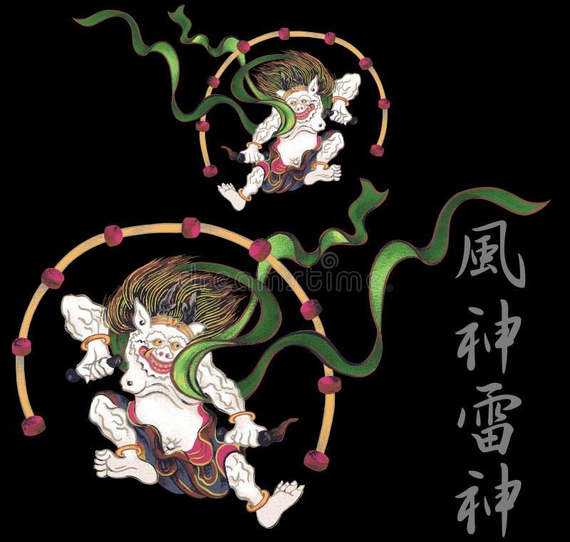 Es dios que aparece en el mito japonés ilustración del vector