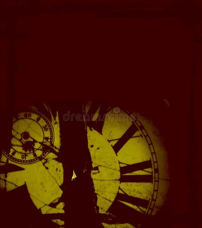 Es el tiempo - fondo con el espacio para la escritura ilustración del vector