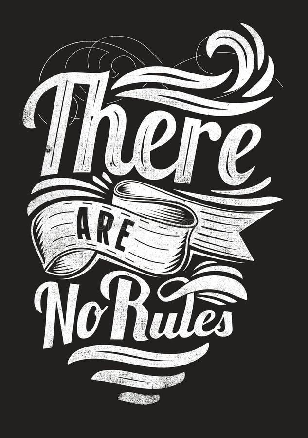 Es gibt keine Regeln stock abbildung