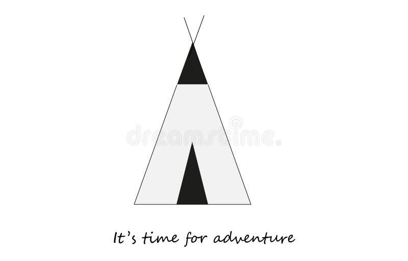 Es hora para la cita de la aventura, tienda de la tienda india fotografía de archivo