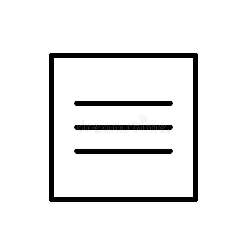 Es idéntico con el vector del icono aislado en el fondo blanco, es idéntico con los elementos de la muestra, de la línea y del es stock de ilustración