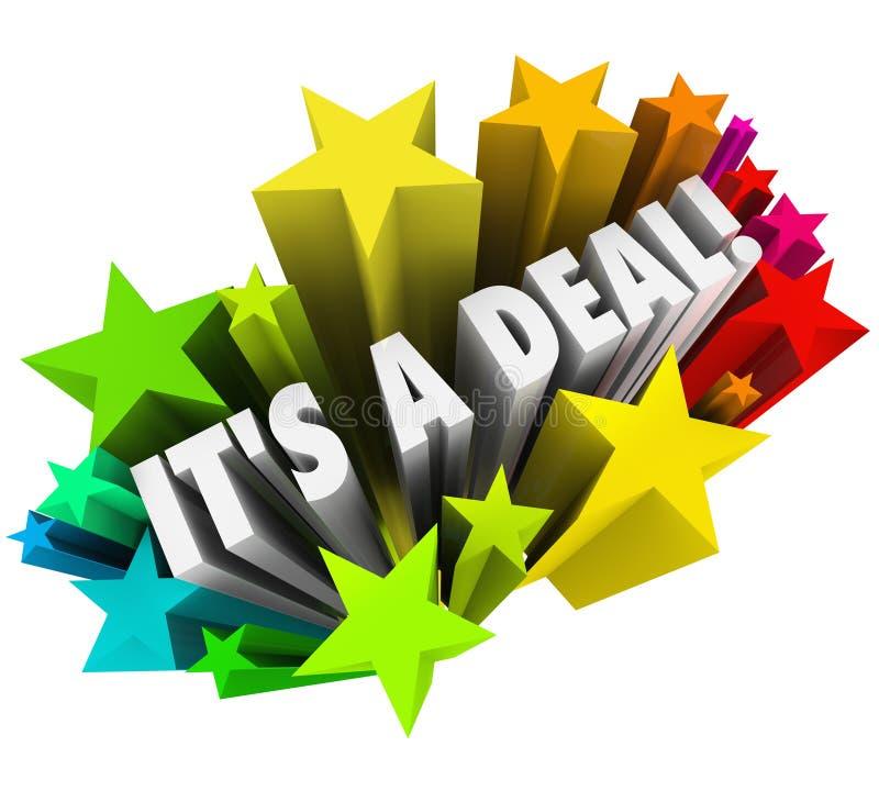 Es ist ein Abkommen-Feuerwerke Verkaufsvertrags-erfolgreicher Verkauf lizenzfreie abbildung