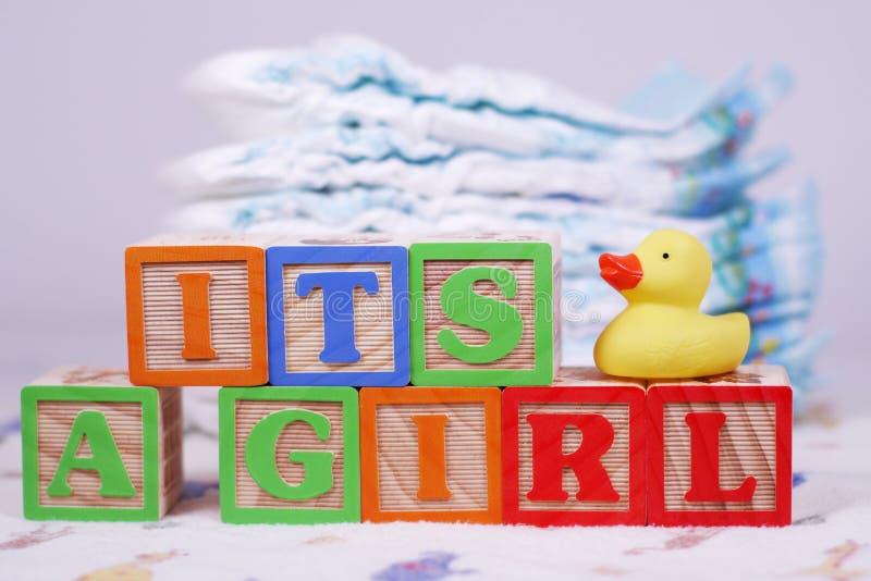 Es ist ein Mädchen lizenzfreie stockfotografie