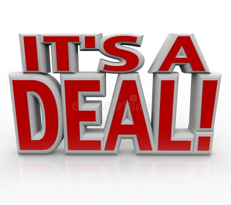 Es ist eine Wort-Vereinbarung oder ein Verkauf des Abkommen-3D lizenzfreie abbildung